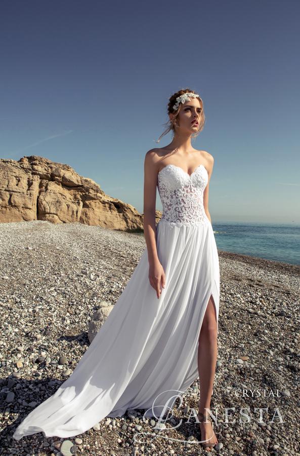 35f52ae356 ... Suknia ślubna Crystal 4 z firmy Lanesta ...